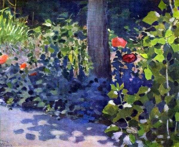 庭のポピー   Victor Borisov Musatov