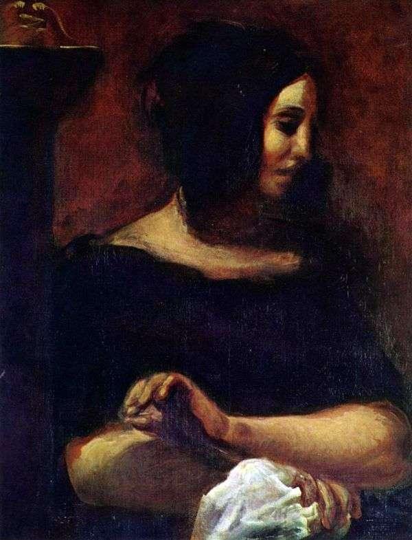 ジョージサンド   ユージーンドラクロワの肖像