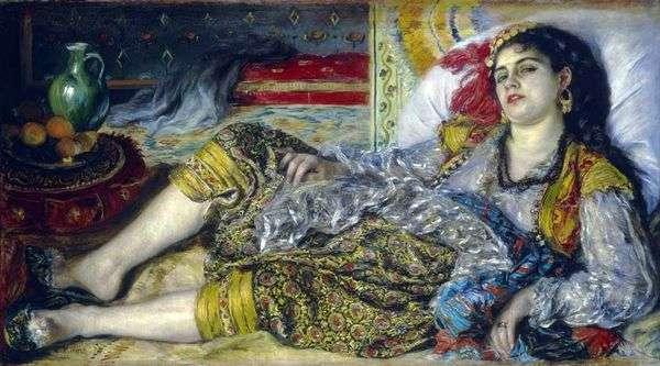 Odalisque(Algerian Woman)   ピエールオーギュストルノワール
