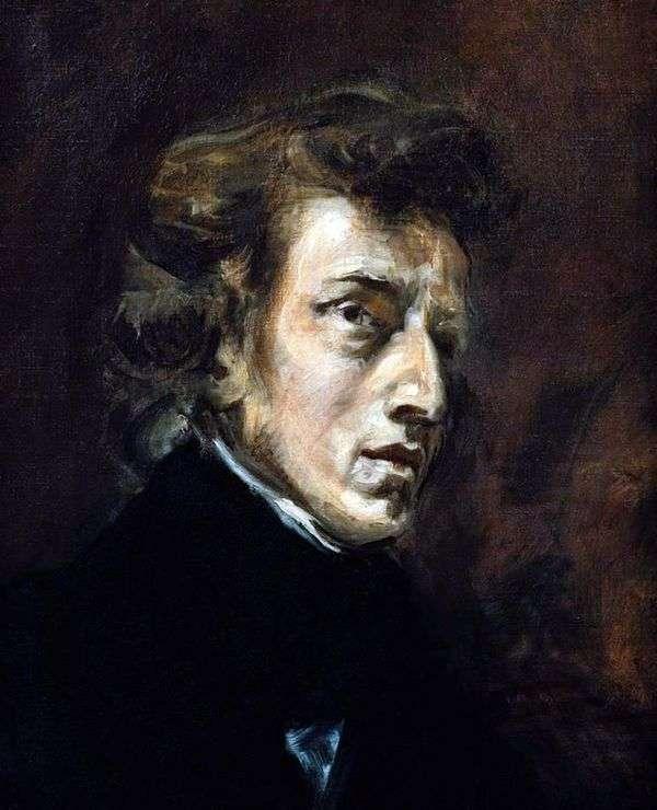フレデリックショパン   ユージーンドラクロワの肖像
