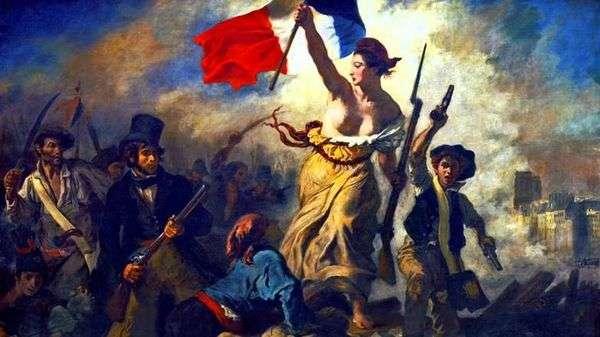 人々を導く自由(バリケードの自由)   Eugene Delacroix