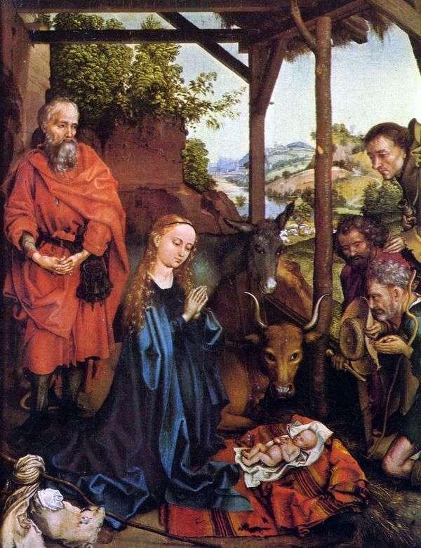 羊飼いの崇拝   Martin Schongauer