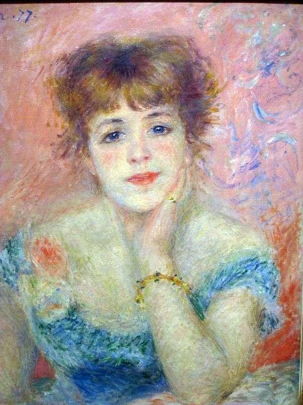 女優Jeanne Samary   Pierre Auguste Renoirの肖像