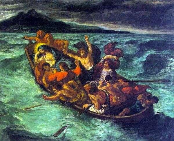 嵐の中のキリストの夢   Eugene Delacroix
