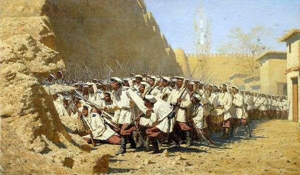 要塞の壁で。彼らをやらせて   Vasily Vereshchagin