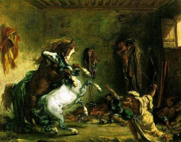 アラビアの馬の戦い   Eugene Delacroix