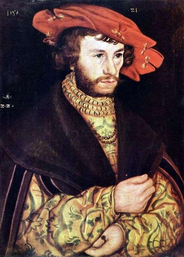 ベレー帽   Lucas Cranachの若い男の肖像