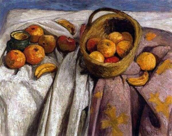 りんごとバナナのある静物   ポーラモデルゾンベッカー
