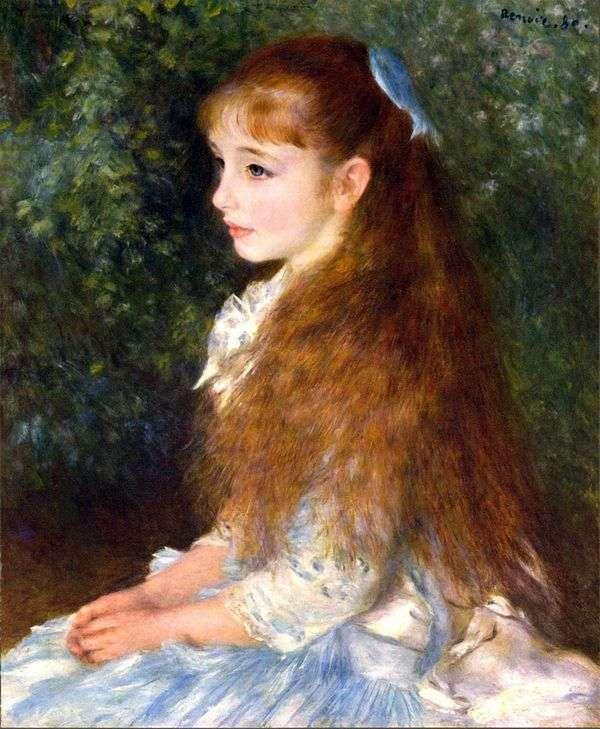 アイリーン・カーン・アンヴァースの肖像   Pierre Auguste Renoir