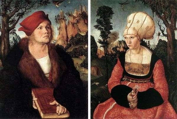 ヨハネス・クスピニアンとその妻   ルカス・クラナックの肖像