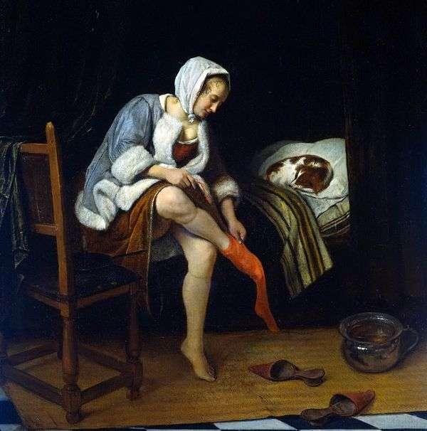 女性用トイレ   Jan Steen