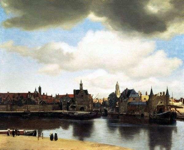 デルフトの街の眺め   Jan Vermeer