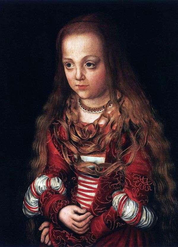 王子と王女の肖像画   ルーカス・クラナック