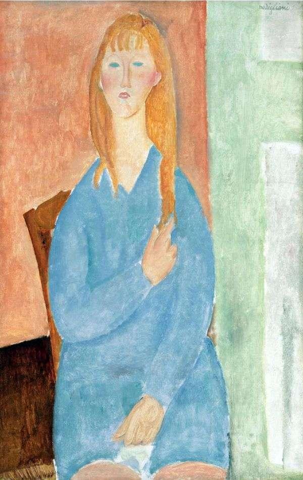 青いドレスの少女   Amedeo Modigliani