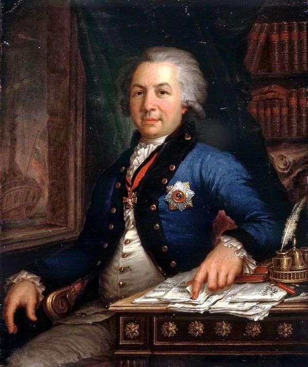 Gavriil Romanovich Derzhavin   ウラジミールBorovikovskyの肖像画