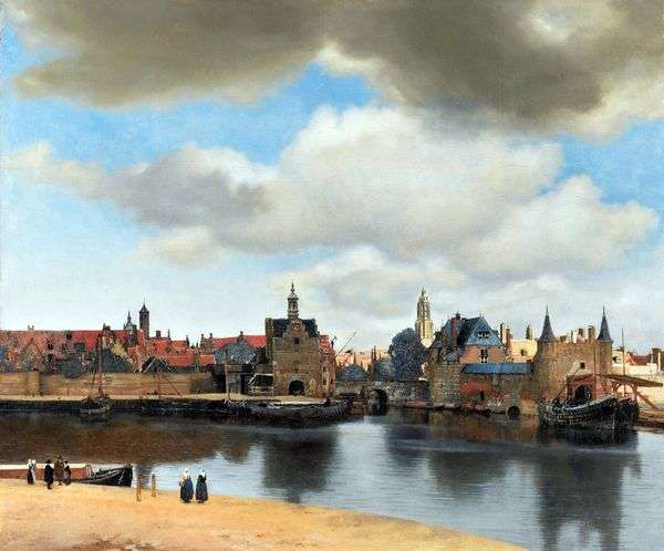 デルフトの眺め   Jan Vermeer