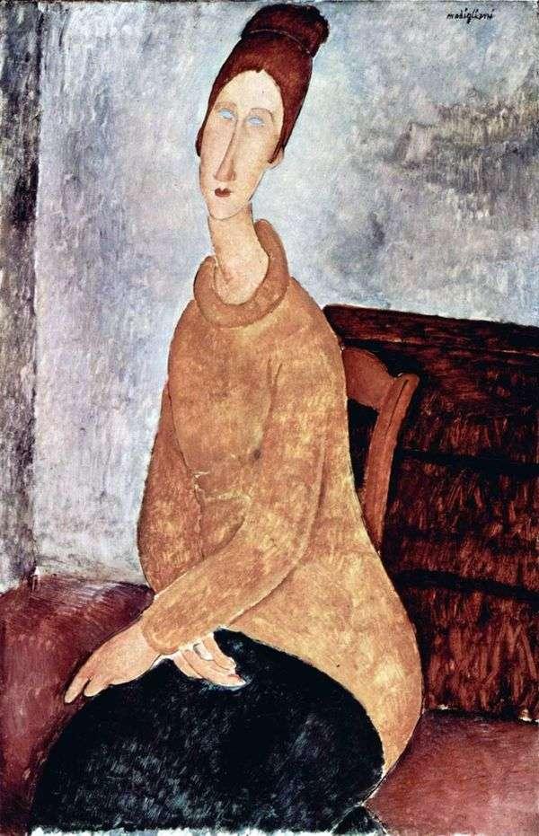 黄色いセーターのジャンヌ・ヘブテルン   Amedeo Modigliani