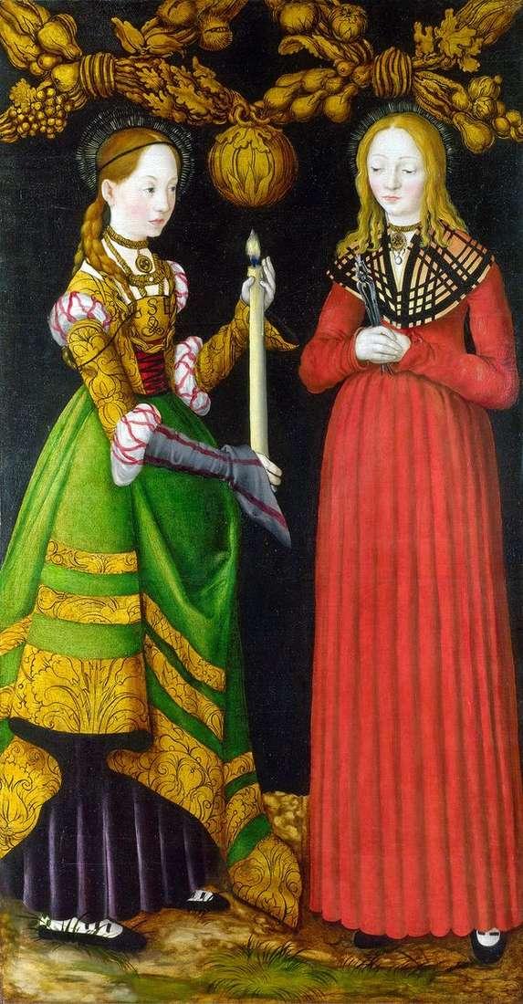 聖者Genevieve and Apollonia   ルーカスクラナック