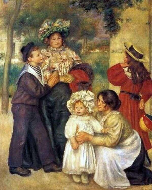アーティストの家族   Pierre Auguste Renoir