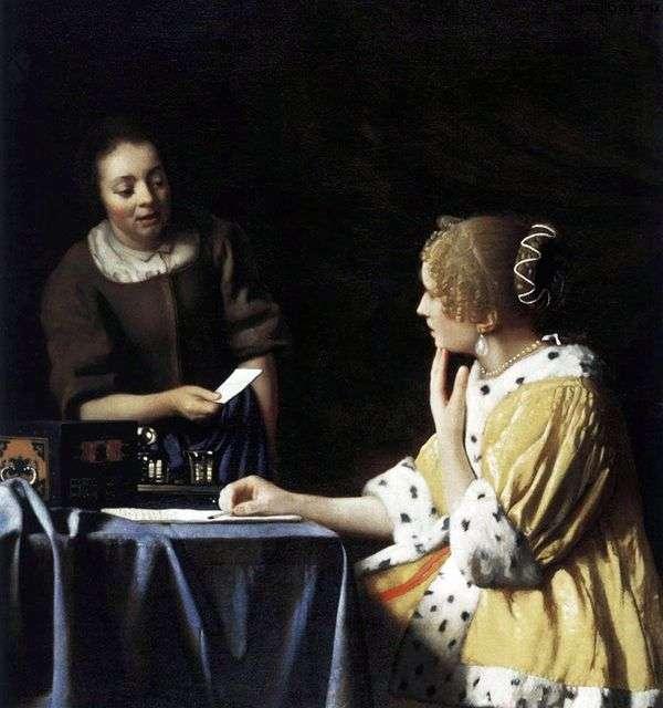 女性とメイドの手紙   Jan Vermeer
