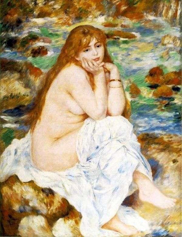 着席の水浴び   Pierre Auguste Renoir