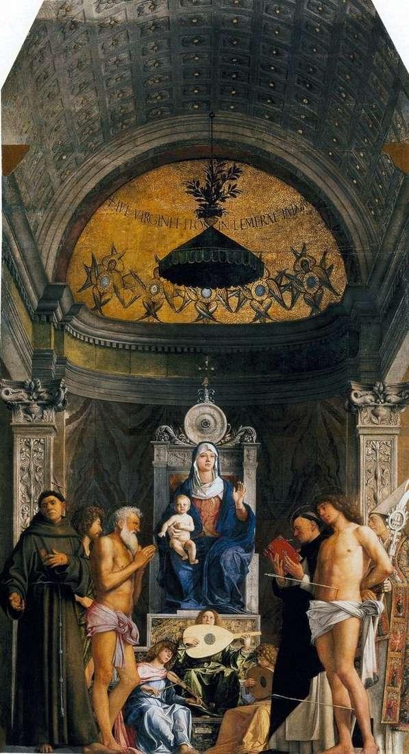 聖人と聖母マリア   サンジョブの祭壇   Giambellino