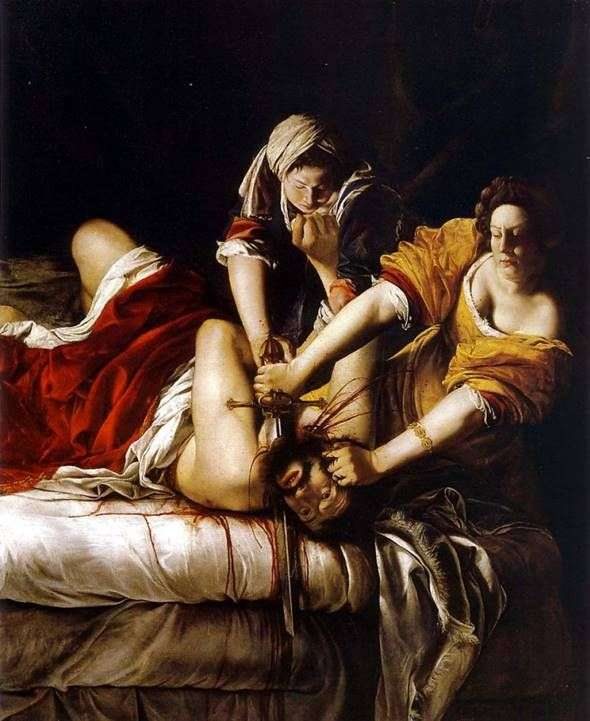 Holofernes   Artemisia Gentileschiの首を切り落とすジュディス