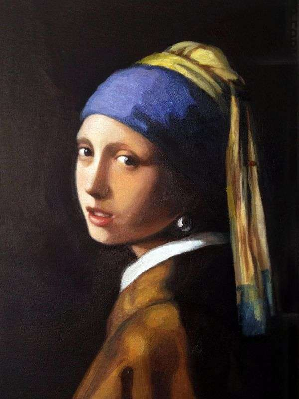 真珠のイヤリングを持つ少女   Jan Vermeer
