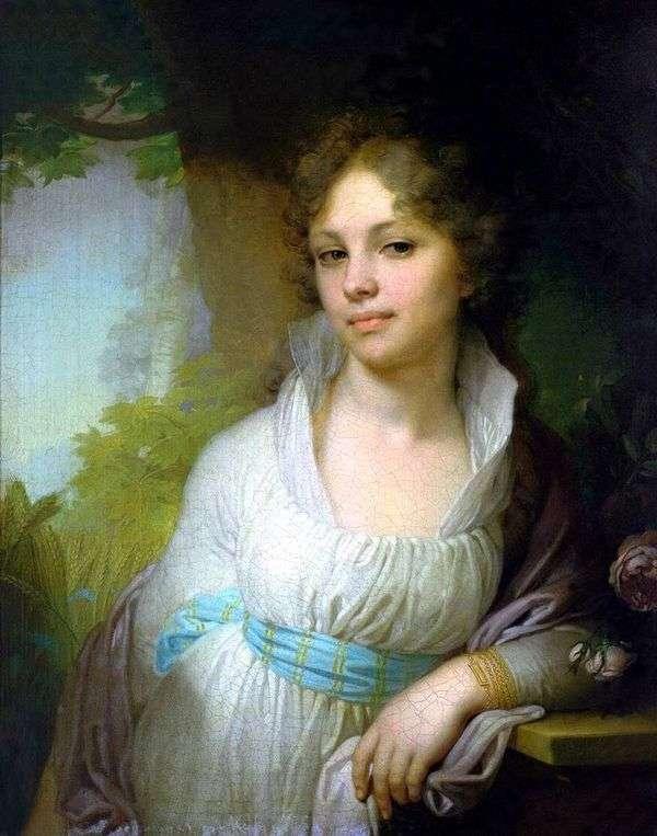 マリアIvanovna Lopukhina   ウラジミールLukich Borovikovskyの肖像