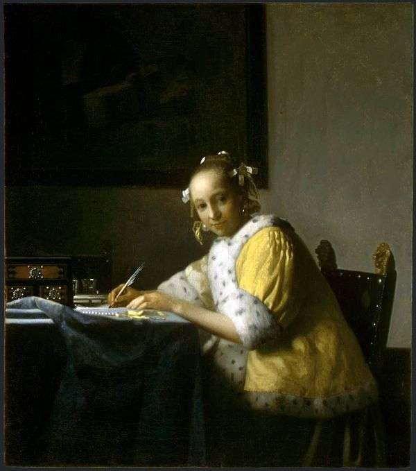 手紙を書いている女の子   Jan Vermeer