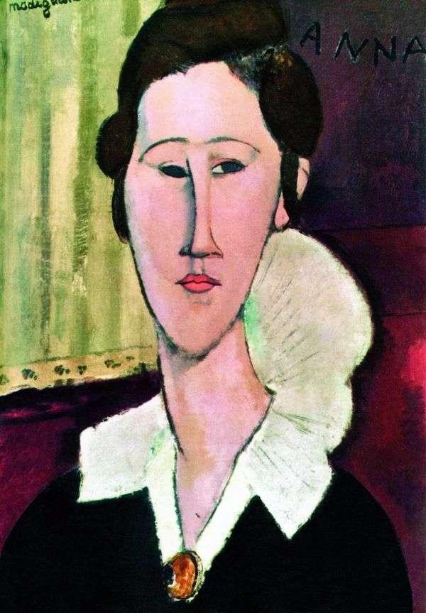 カンカ・ズボロフスコイの肖像   Amadeo Modigliani