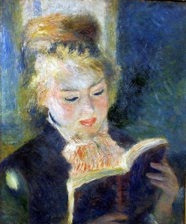Girl Reading   ピエールオーギュストルノワール
