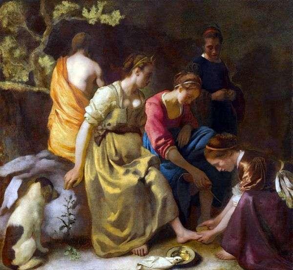 ダイアナとニンフ   Jan Vermeer
