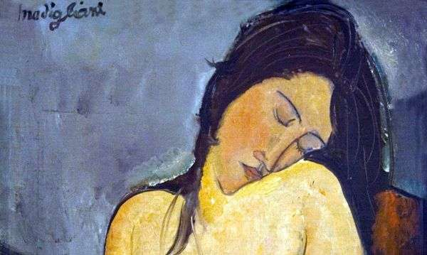 着席ヌード   Amedeo Modigliani