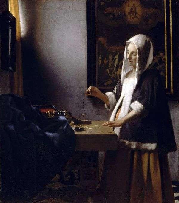 重みで忙しい女性   Jan Vermeer
