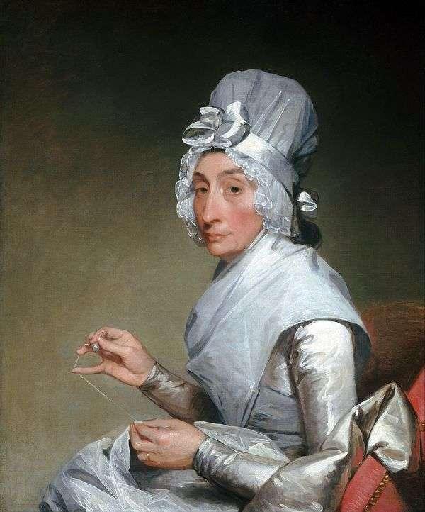 リチャード・イーツ夫人の肖像   Gilbert Stewart