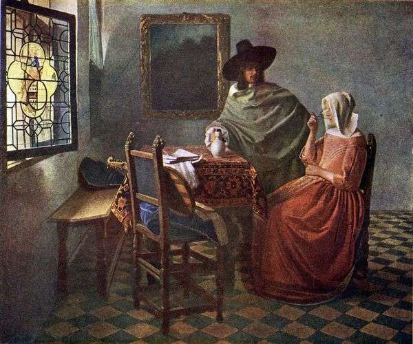キャバリアー、ワインで女性を治療   Jan Vermeer