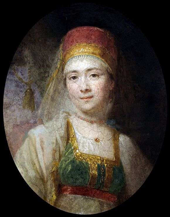 Torzhkovsk農民の女性Khristiny   ウラジミールBorovikovskyの肖像
