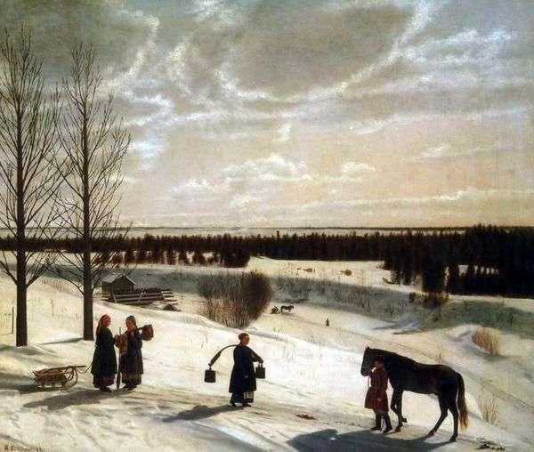 冬の風景   Nikifor Krylov