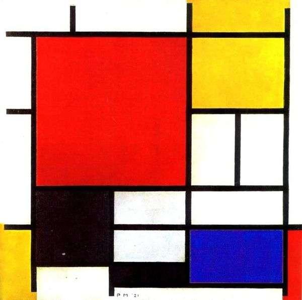 赤、黄、青、そして黒   Peter Cornelis Mondrian