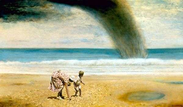ママと私はフロリダ州デイトナビーチで1936年に貝殻を収集   ガイジョンソン