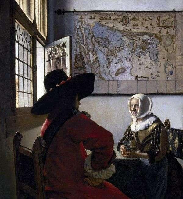 役員と笑う女の子   Jan Vermeer
