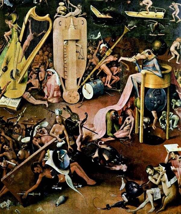 地獄 トリプティクディテール地上の歓喜の庭   ヒエロニムスボッシュ