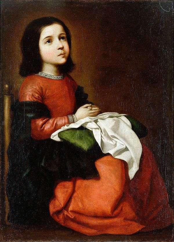 聖母の青春期   フランシスコ・デ・スルバラン