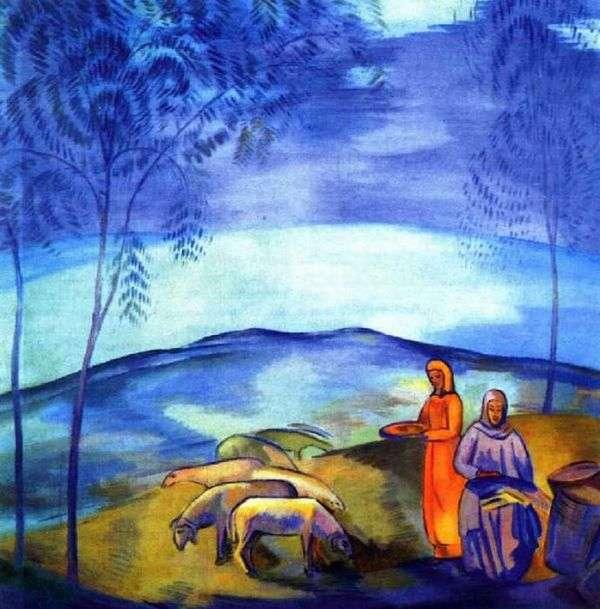 草原の夕方   パベル・クズネツォフ
