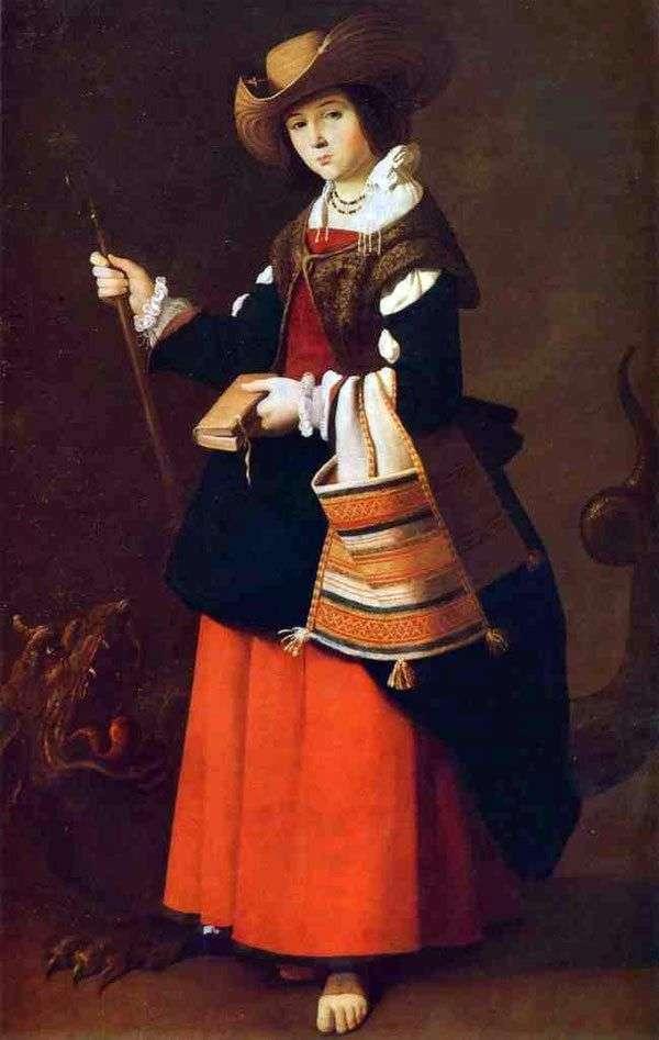 アンティオキアの聖マーガレット   Francisco de Zurbaran