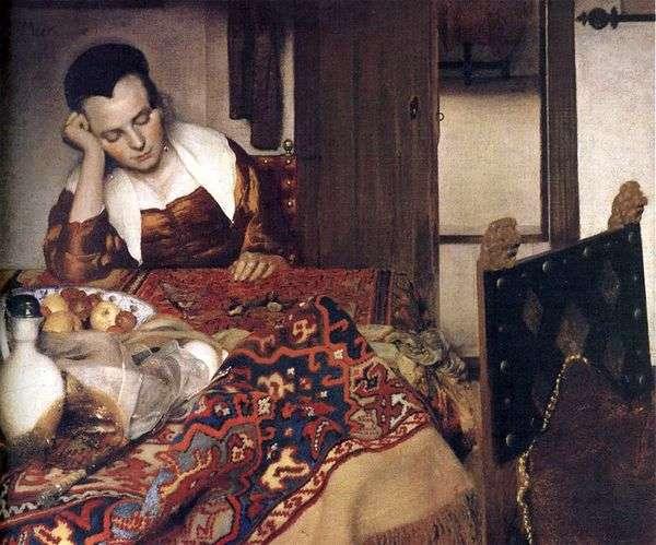 眠っている少女   Jan Vermeer