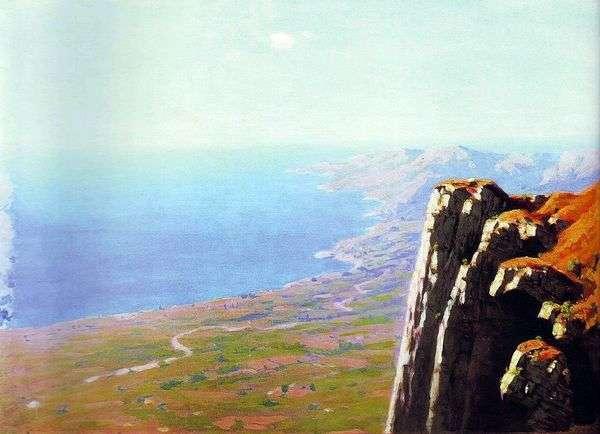 岩と海の海岸   Arkhip Kuindzhi
