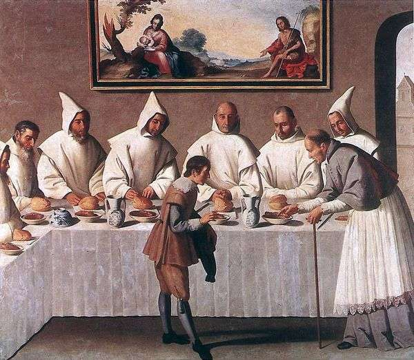 SVの奇跡 Hugo Grenoble、修道院の食堂   Francisco de Zurbaran