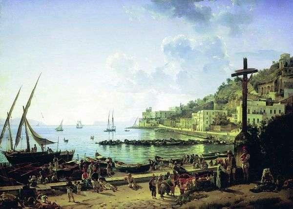 ナポリのMergellina堤防   Sylvester Shchedrin